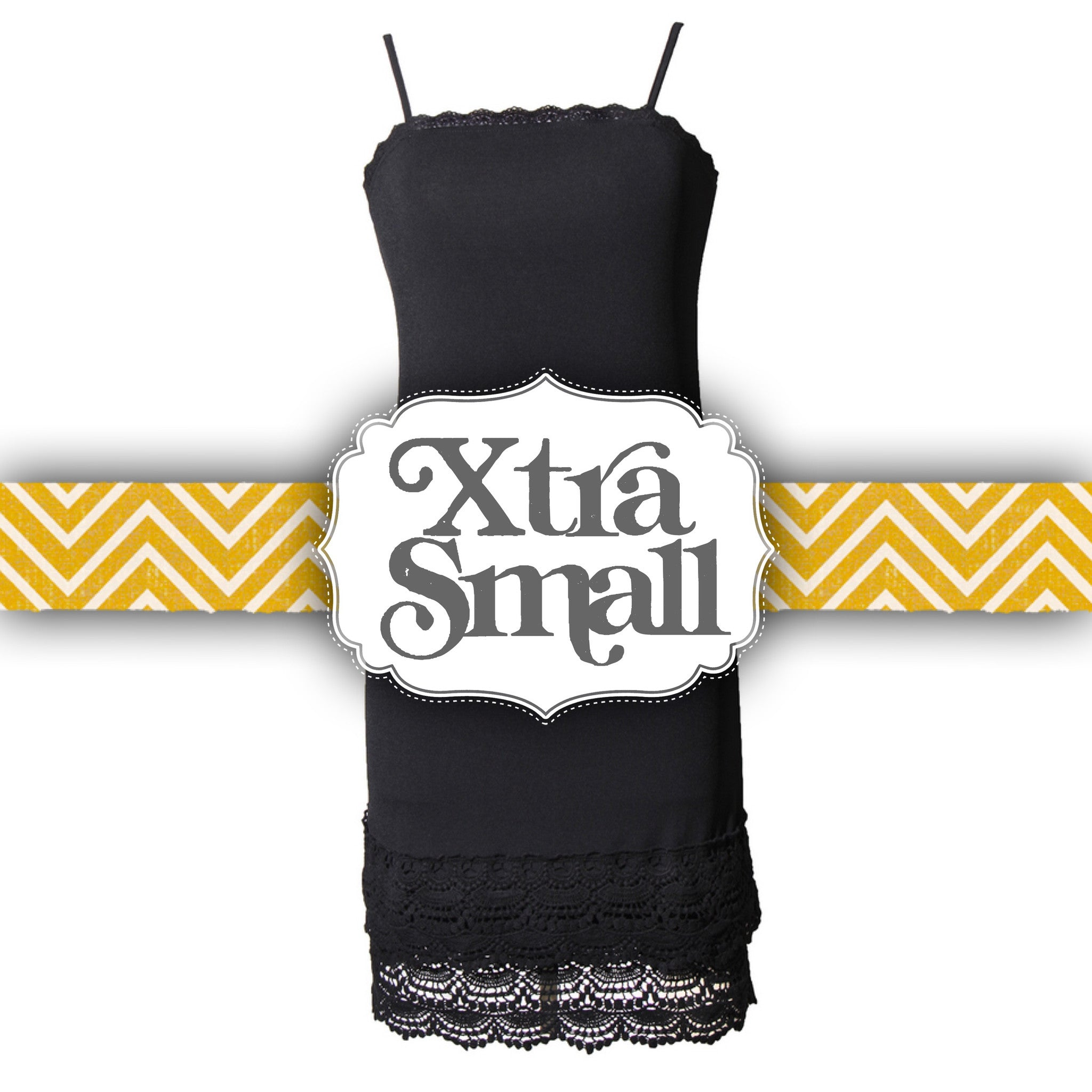Black snap dragon crochet trim strap slip dress