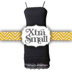 Snap Dragon Crochet Trim Strap Slip Dress Extender | Black