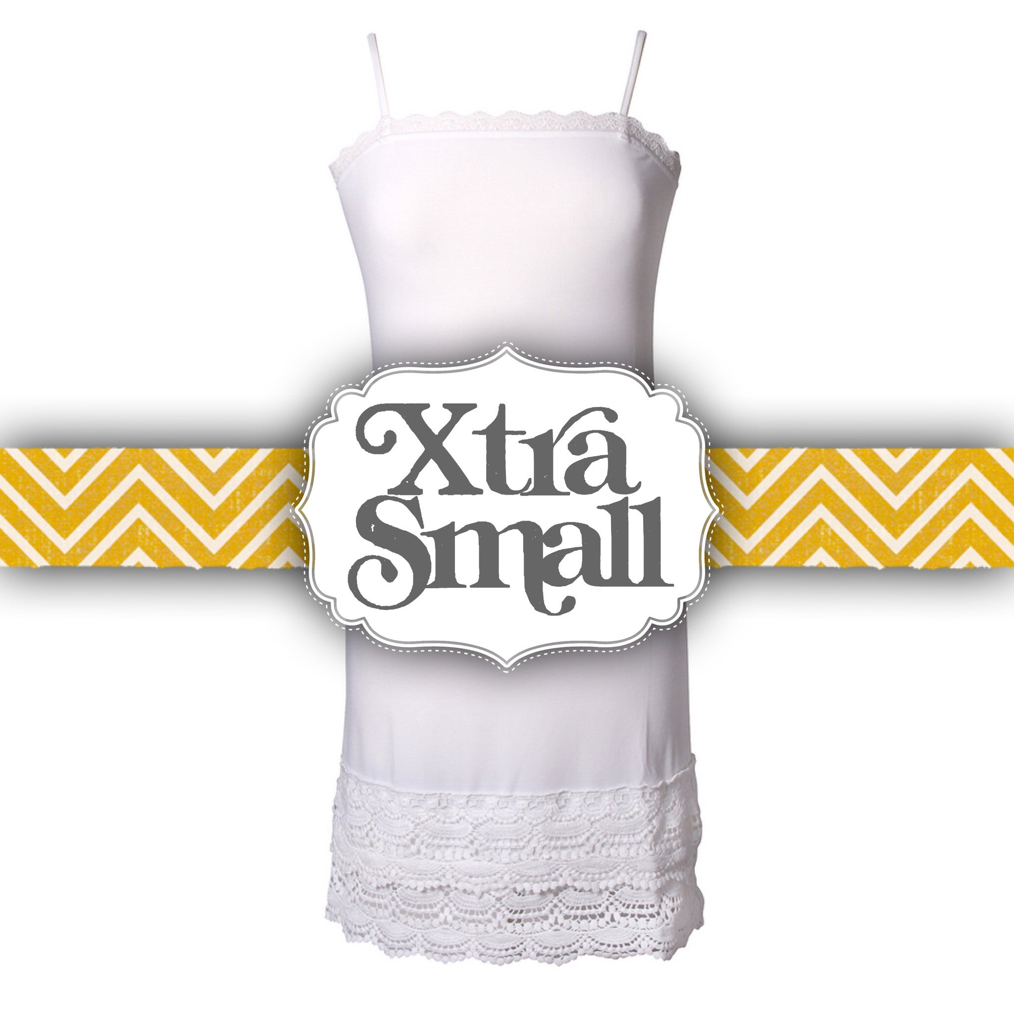 White snap dragon crochet trim strap slip dress