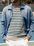 Stripe Stitch Crewneck Sweater