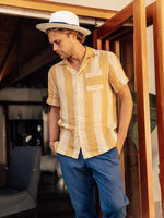 Cabana Stripe Camp Collar Short Sleeve Shirt