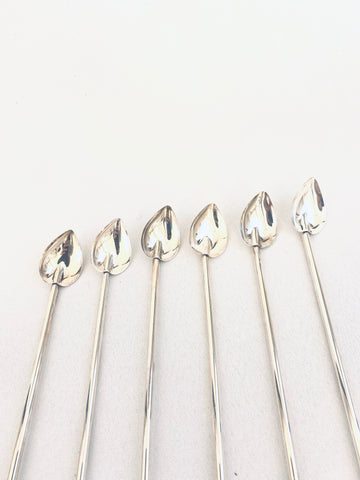 Sterling Silver Set of cocktail spoons (6) (C. 1940's)