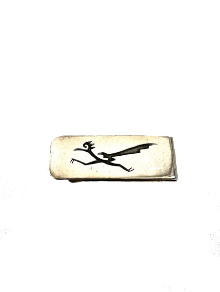 Silver Hand Cut Money Clip C. 1970's