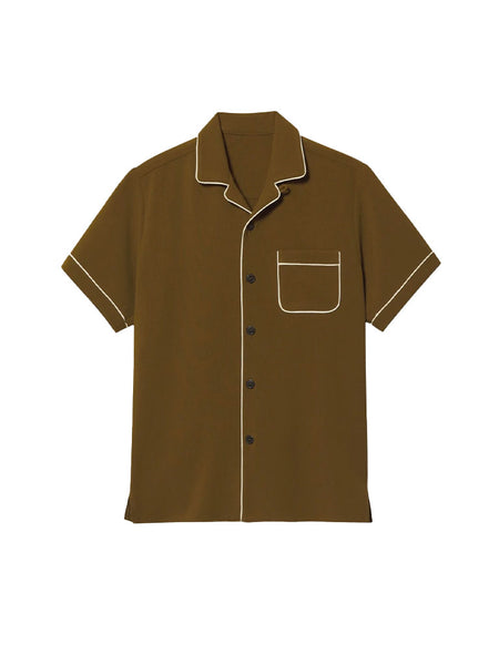 Camp Collar Shirt with Piping