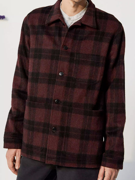 Wool Check Work Jacket