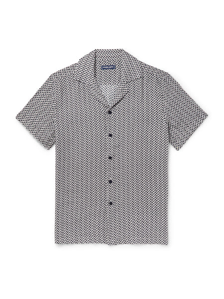 Beam Camp Collar Printed Linen Shirt