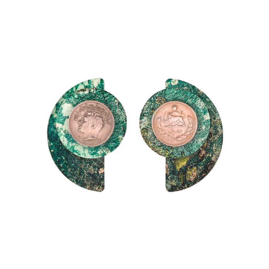 Geomatric Earrings- Green