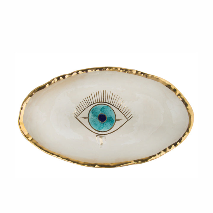 Goo-Goo Eye Gold Plated Platter