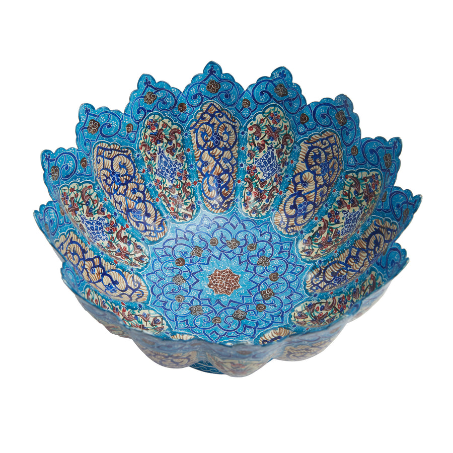 Shiraz Dome Enamel Bowl & Plate