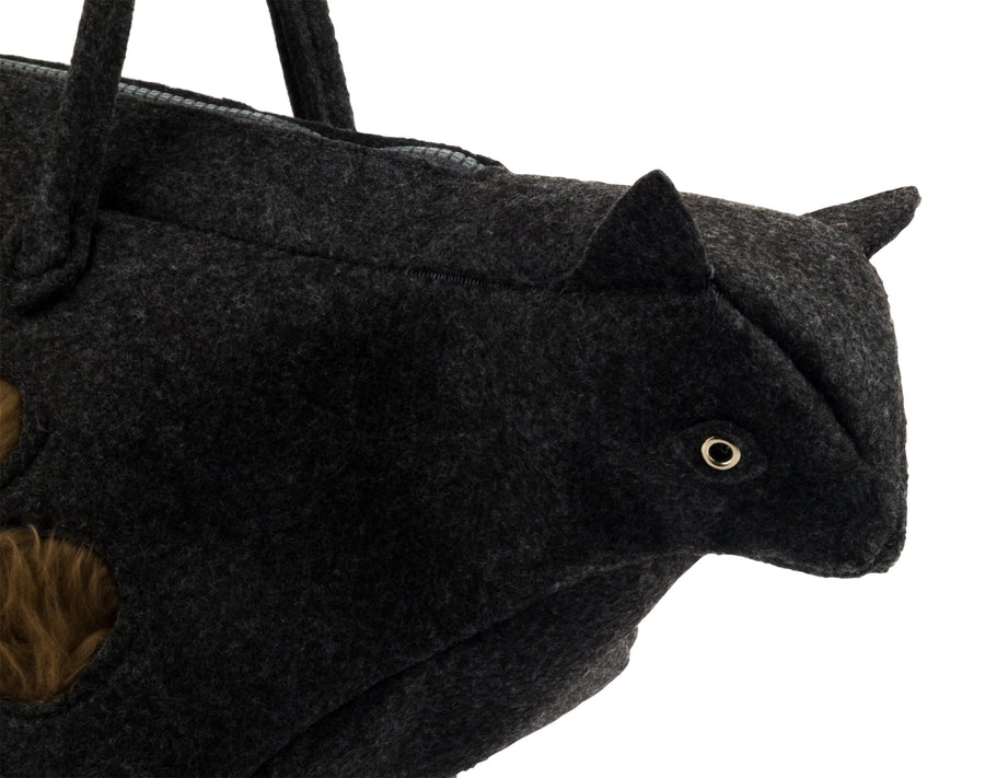 Black Kitty Handbag