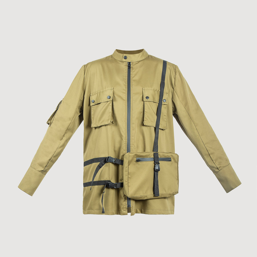 Front Pocket Army Jacket