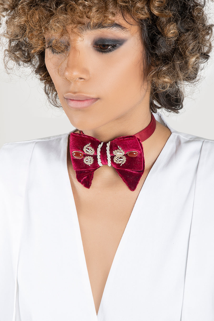 UNISEX Red Sermeh Embroidery Bowtie