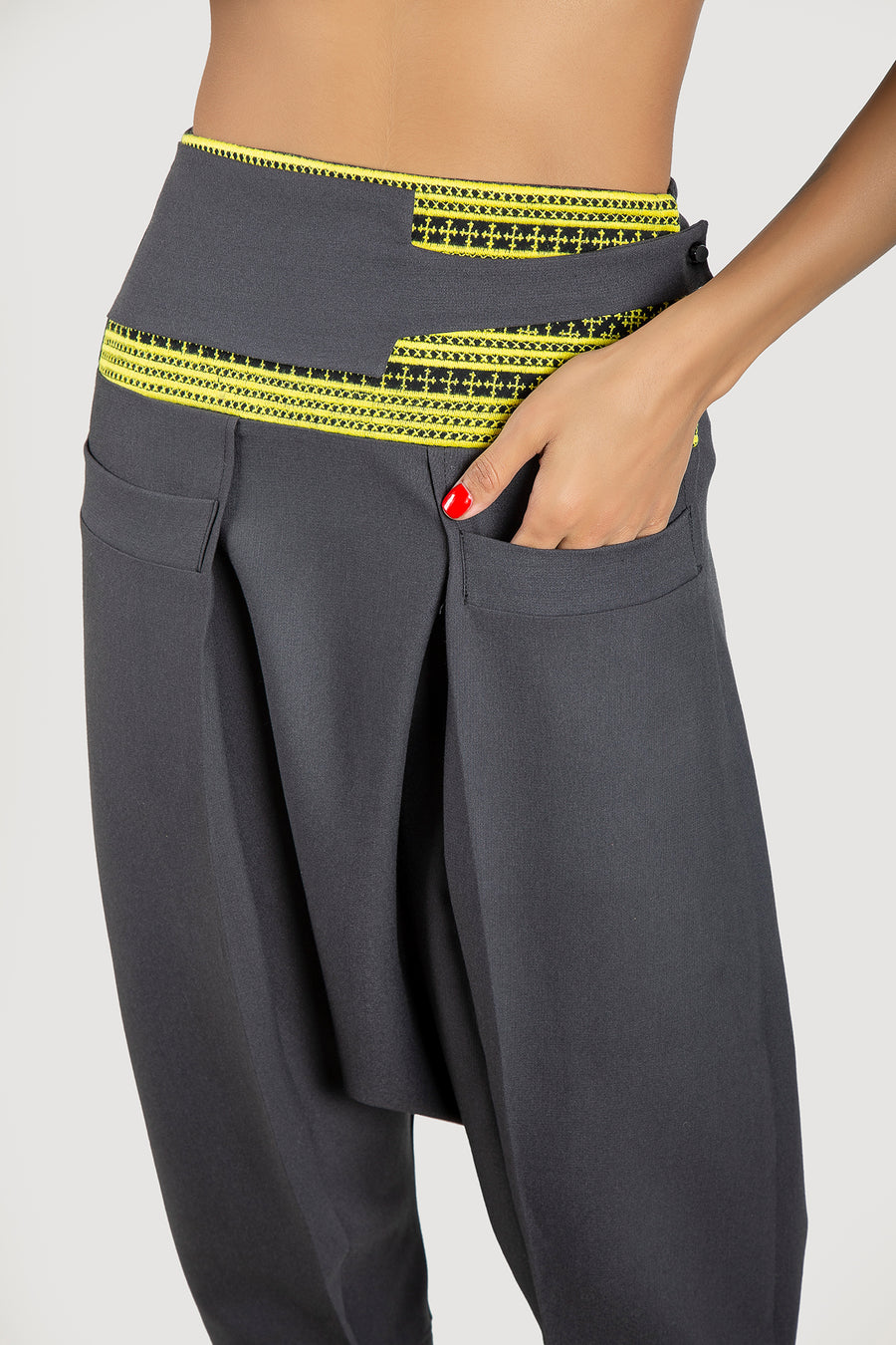 Yellow Baluchi Waist Trousers