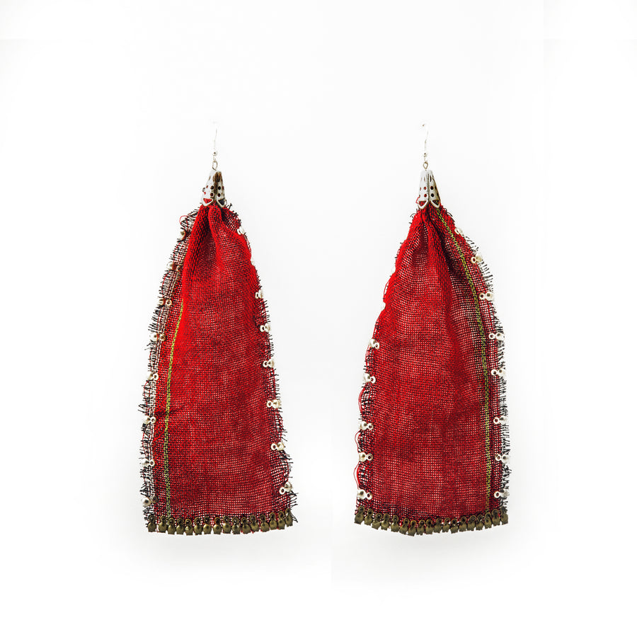 Long Gamucha Cloth Earrings