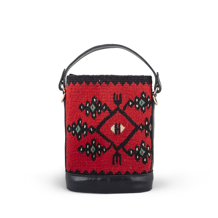 Shereena Mini red Kilim bag