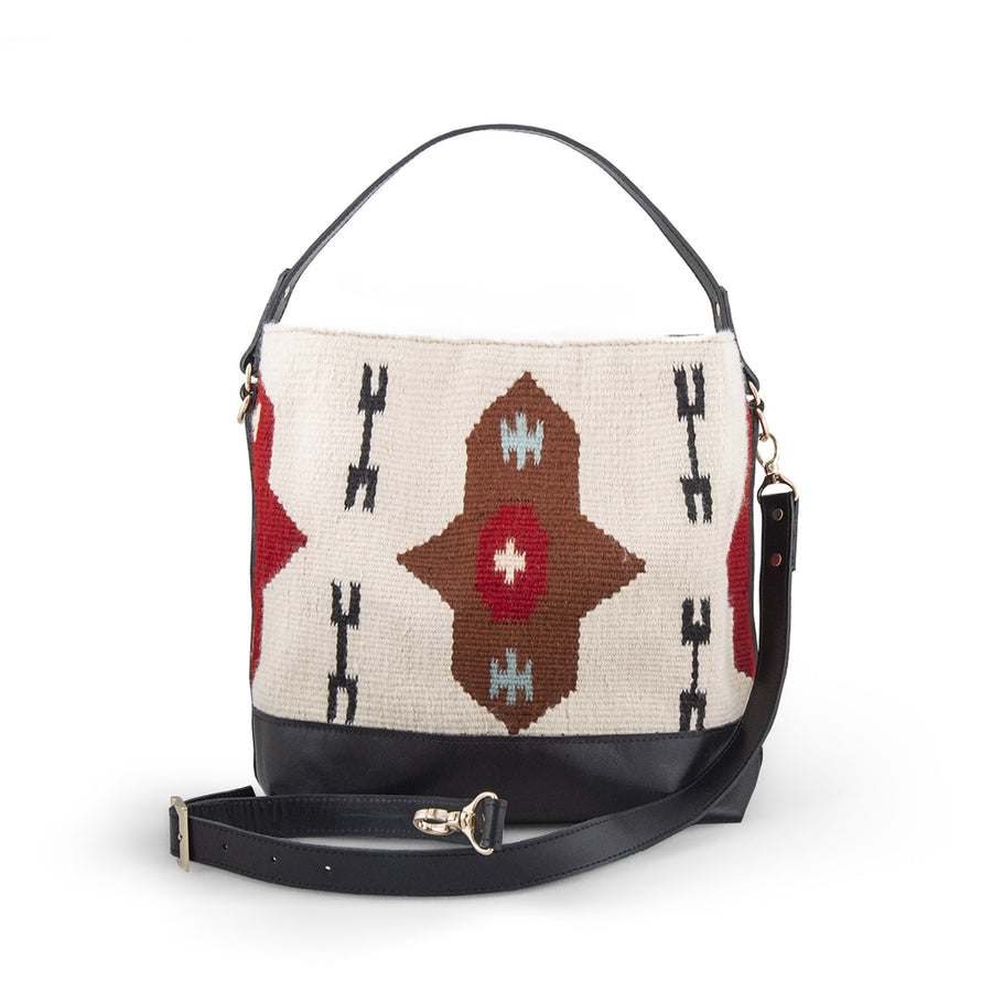 Sheran Medium Beige Kilim Bag