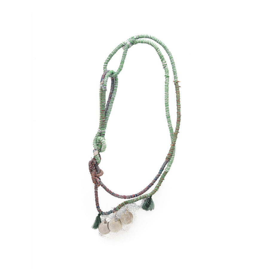 Green Lamé Aqueménida Necklace