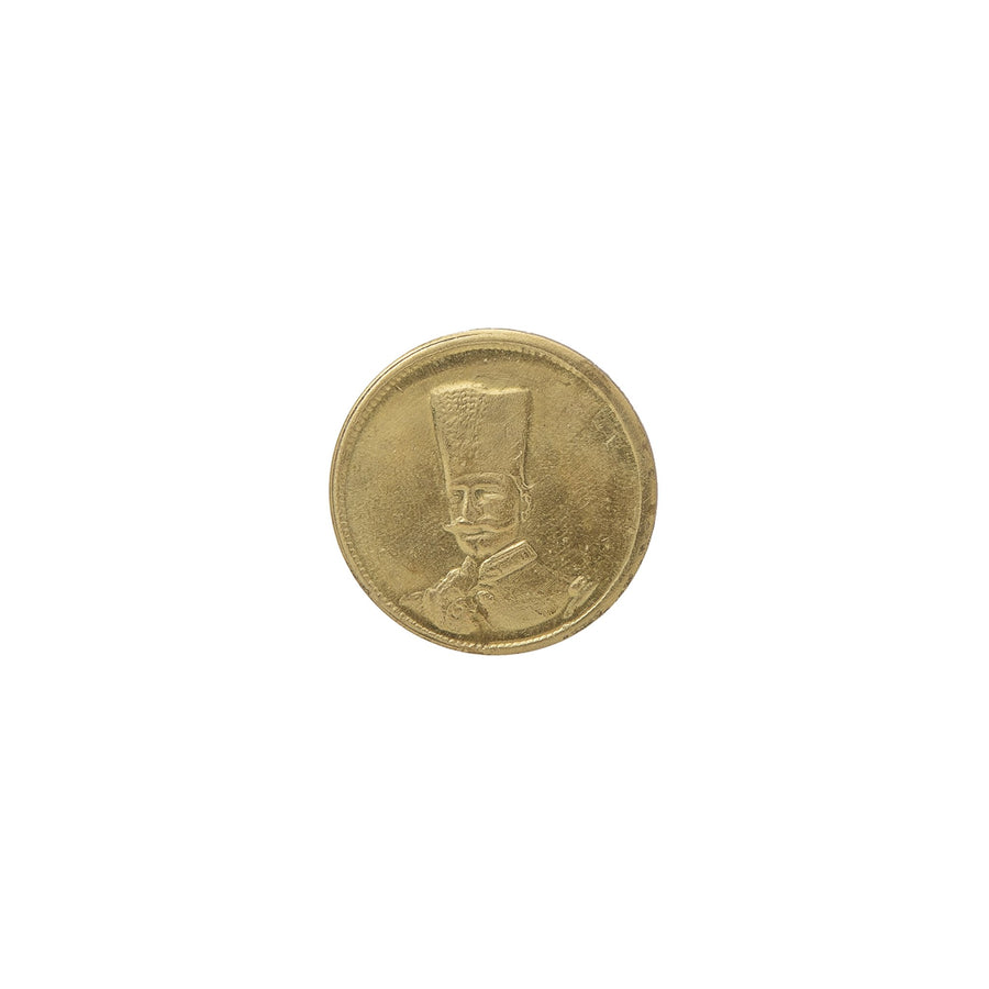 Pahlavi Shah Antique Coin Pin
