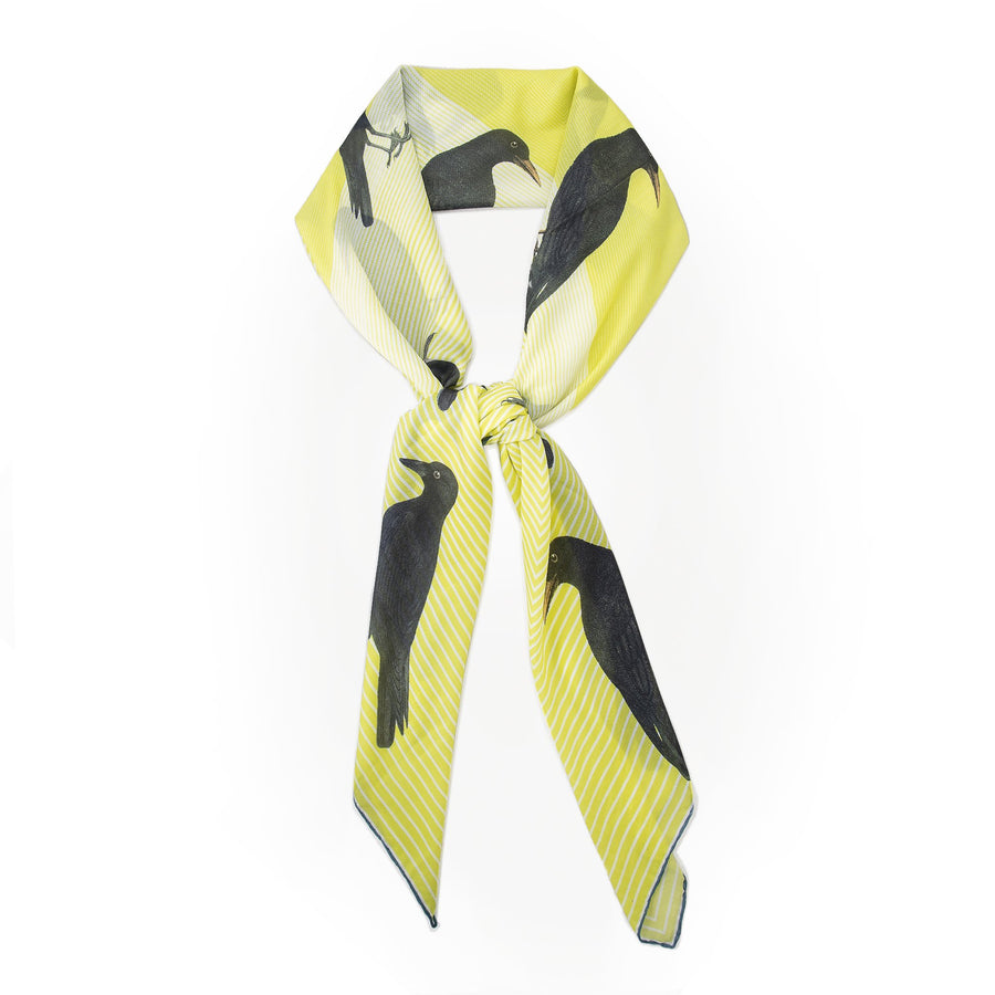 Crow Yellow Scarf