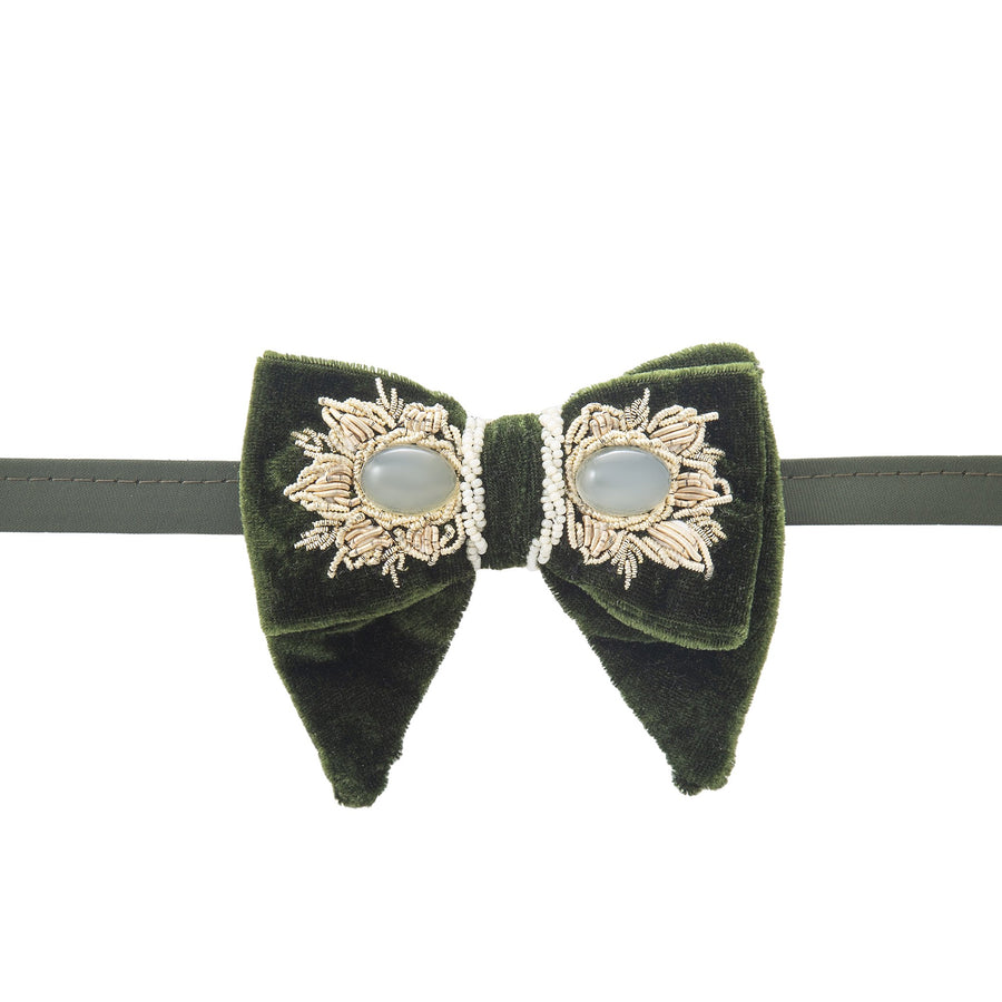 UNISEX Green Sermeh Embroidery Bowtie