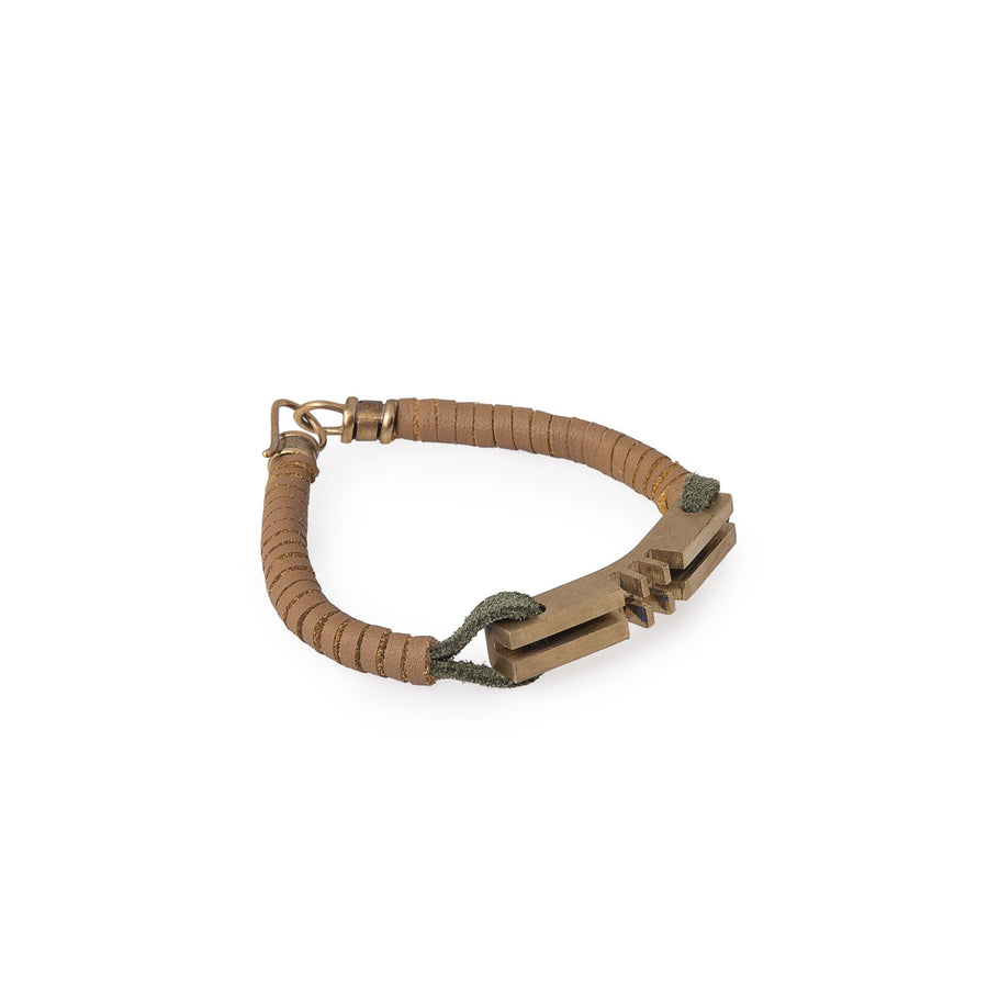 Original Tan Leather Key Bracelets