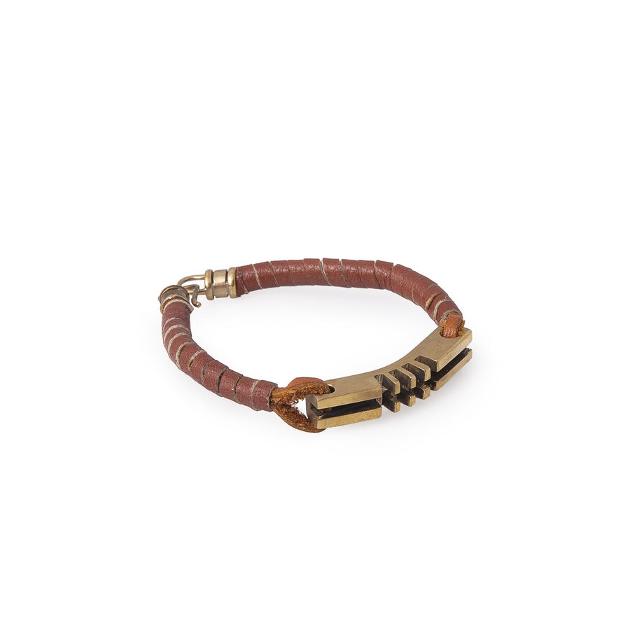 Original Dark Tan Leather Key Bracelets