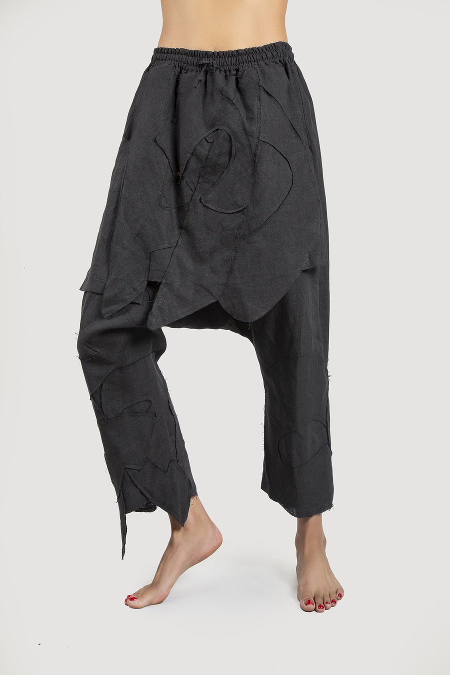 Black Alphabet Trousers