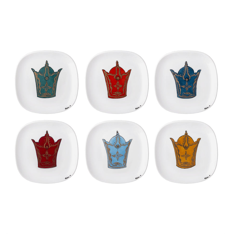 Monarch's Top hat 6 Piece Plate Set