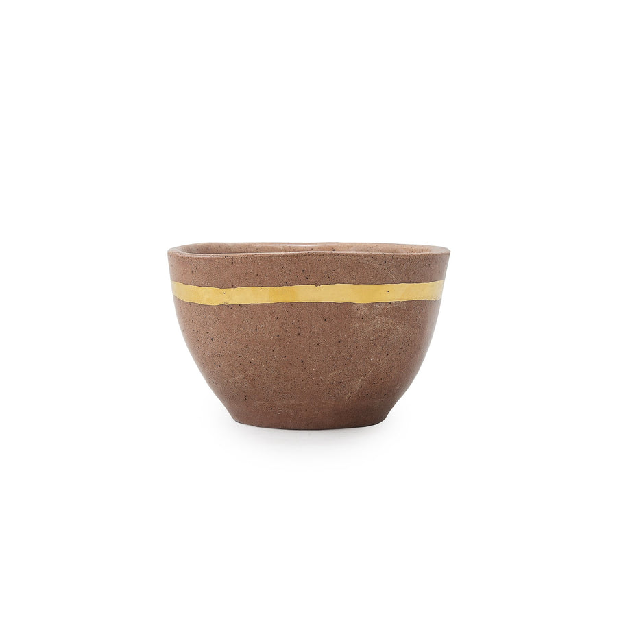 Gold Stripe Red Sand Bowl