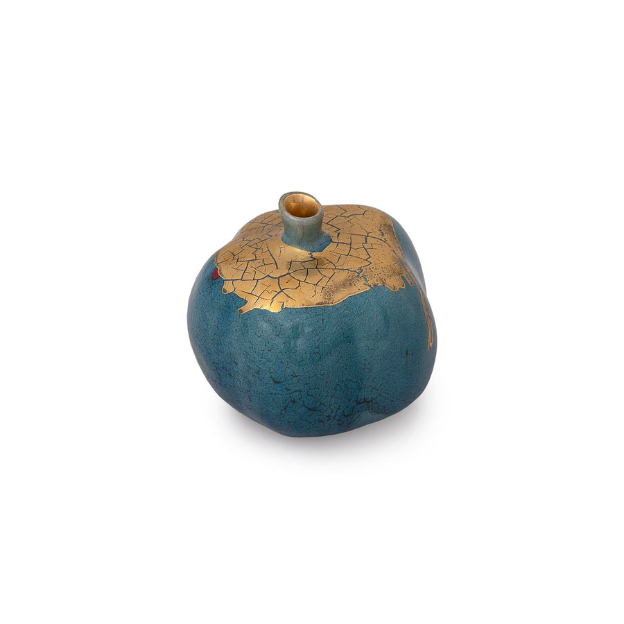 Blue And Gold Pomegranate Sculpture