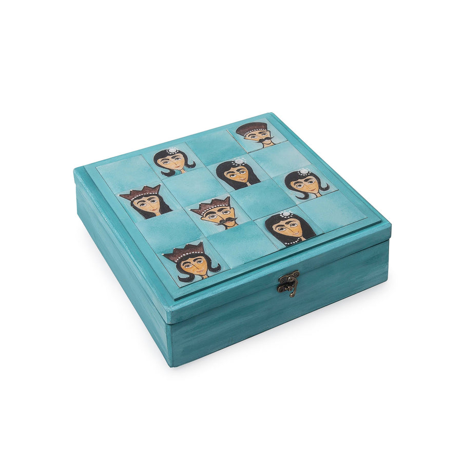 Teal Hand Painted  Box