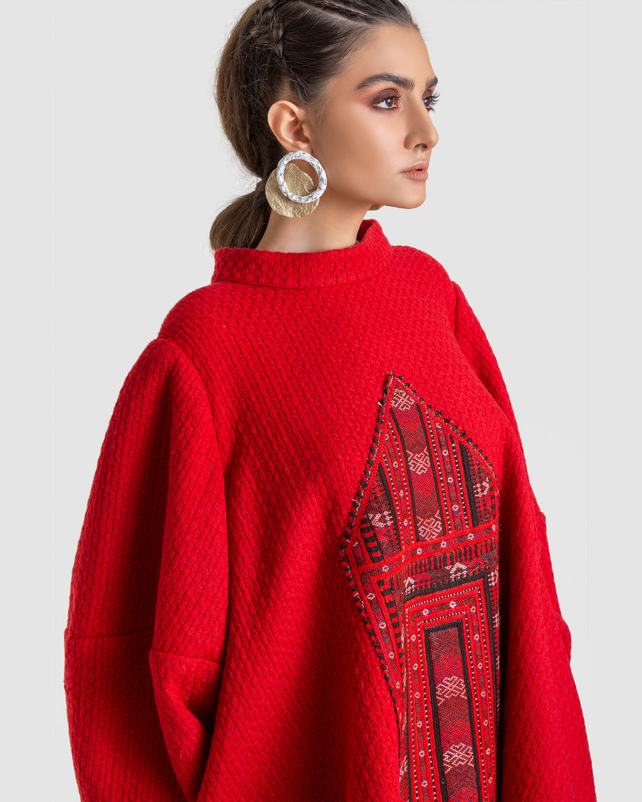 Embroidered Riding Hood Top