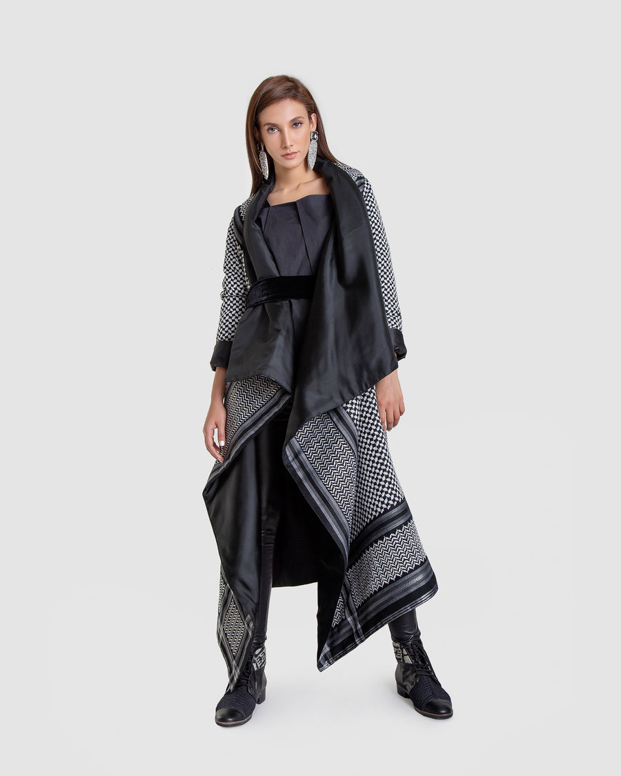 Structured Asymmetrical Tall Parka