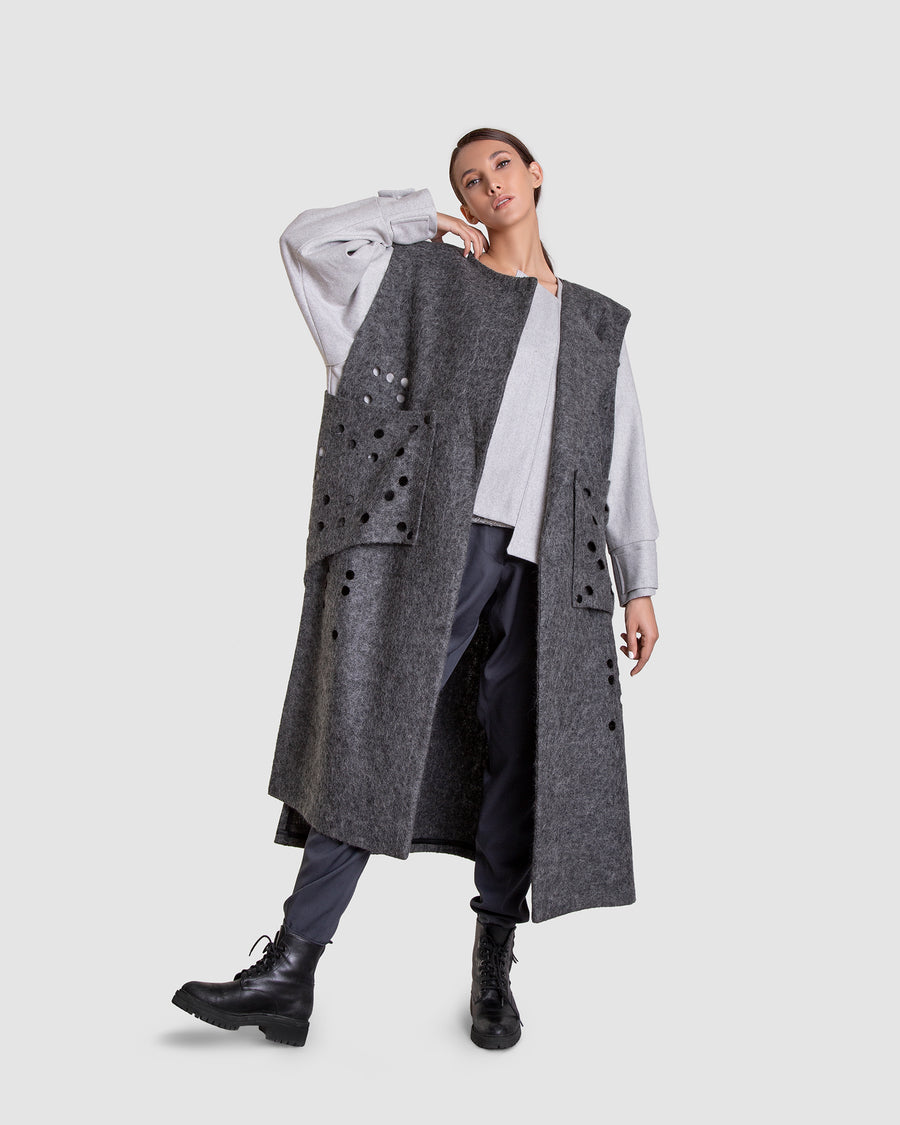 Déjà Vu Sleeveless Tall Coat