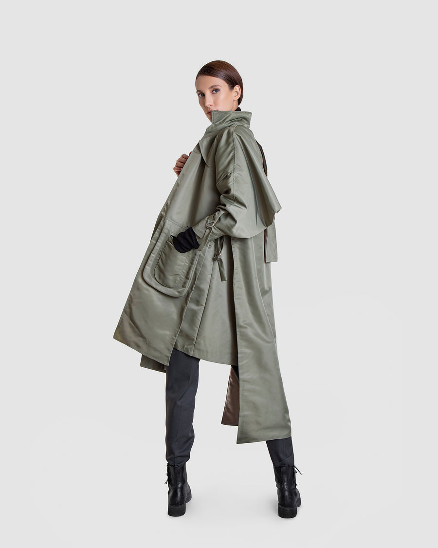 Tall Military Trench Coat