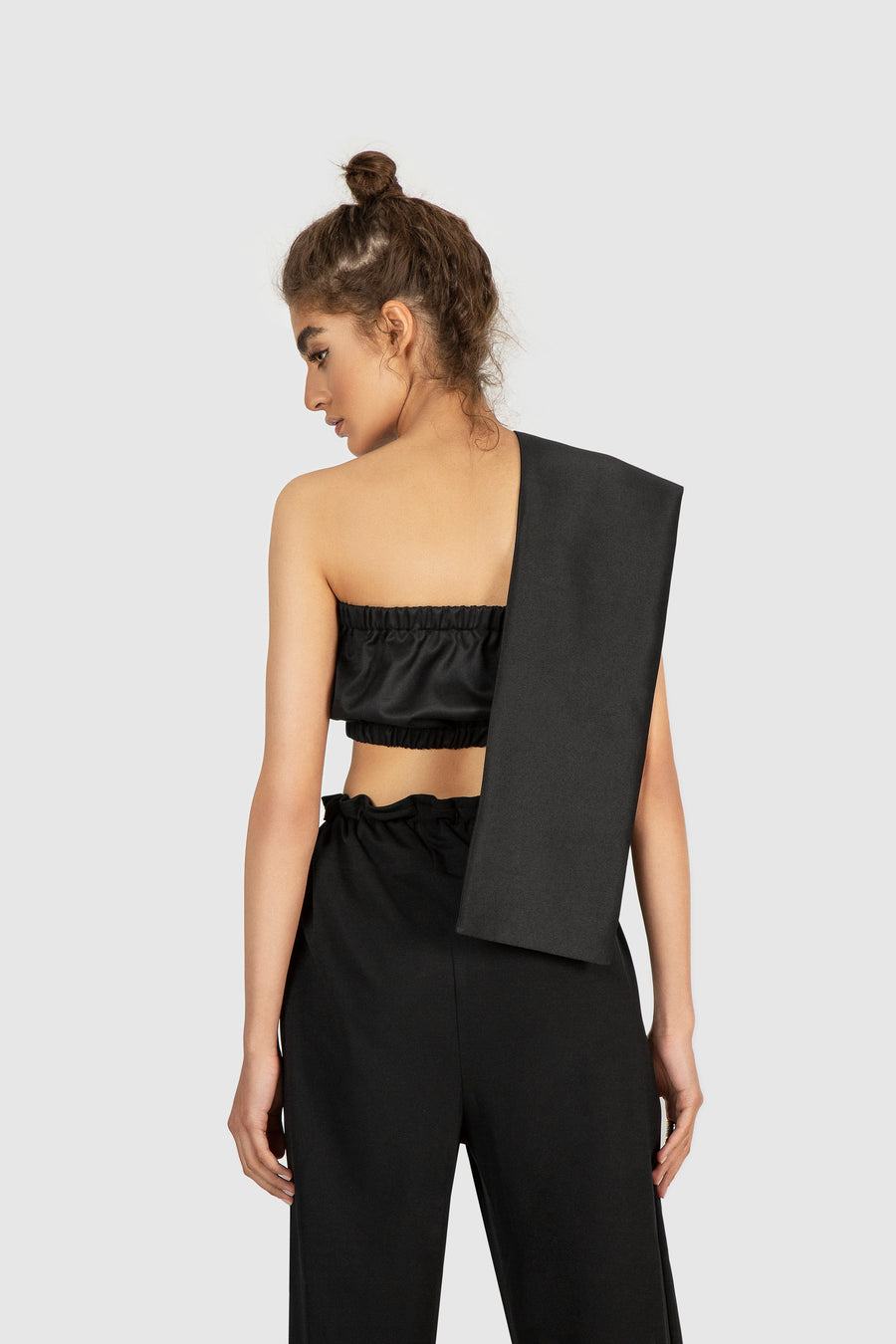 Nile Asymmetrical Charcoal Top