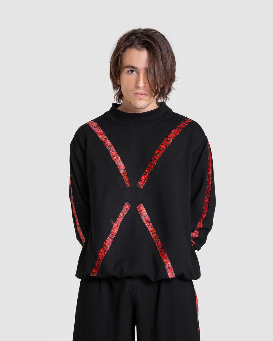 Oversized Jumper With Cross Termeh Detail