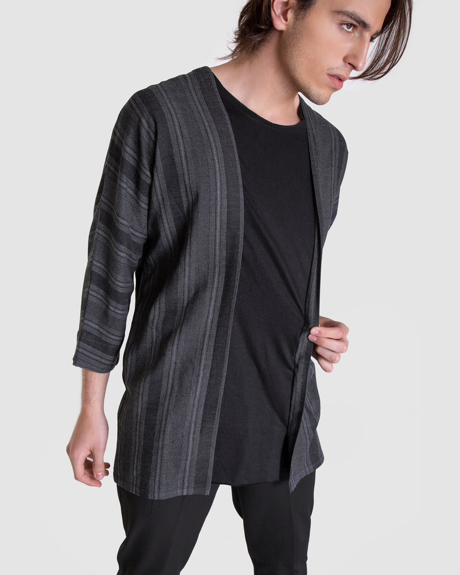 Grained Shirt With Middle Incrusted T-shirt
