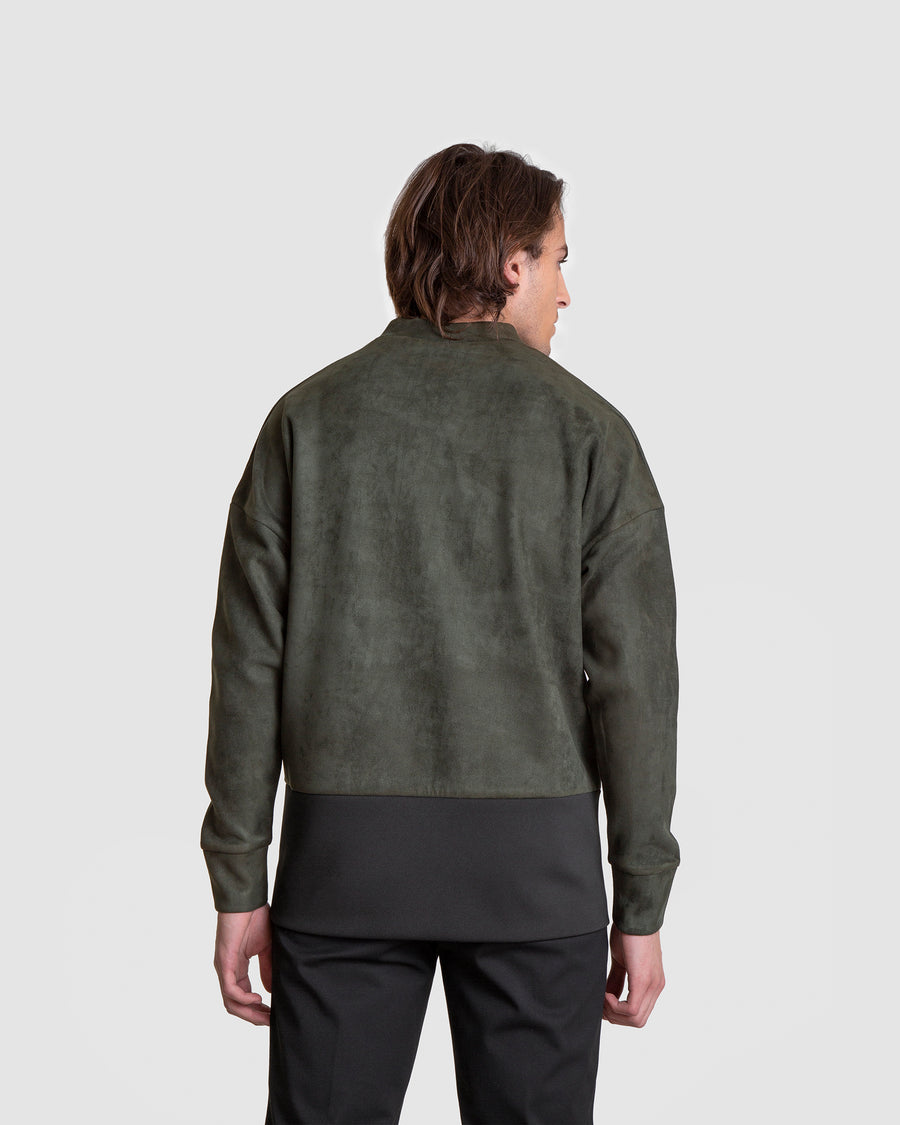 Green Structured Nubuck Jumper
