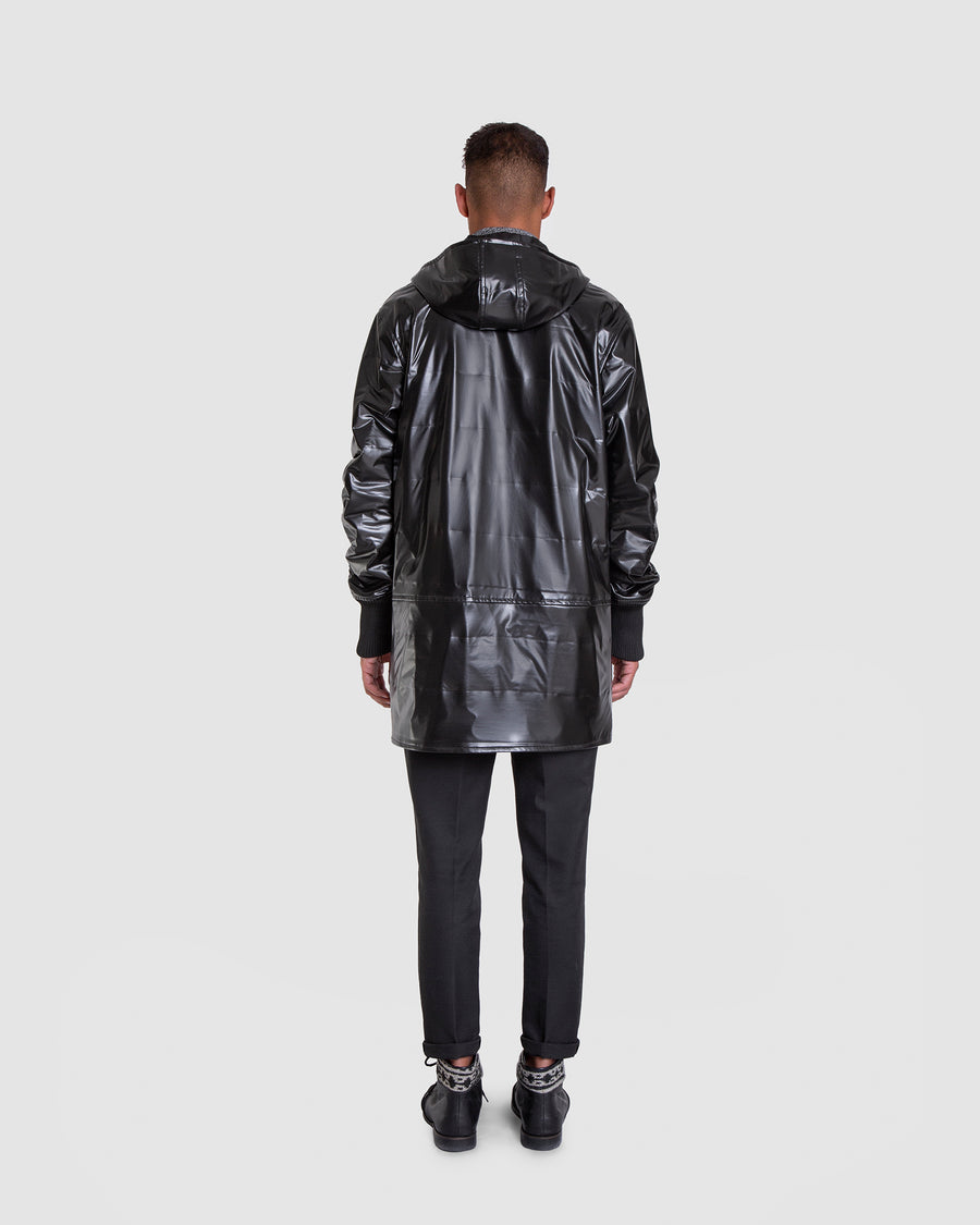 Vinyl Look Loose Fit Raincoat
