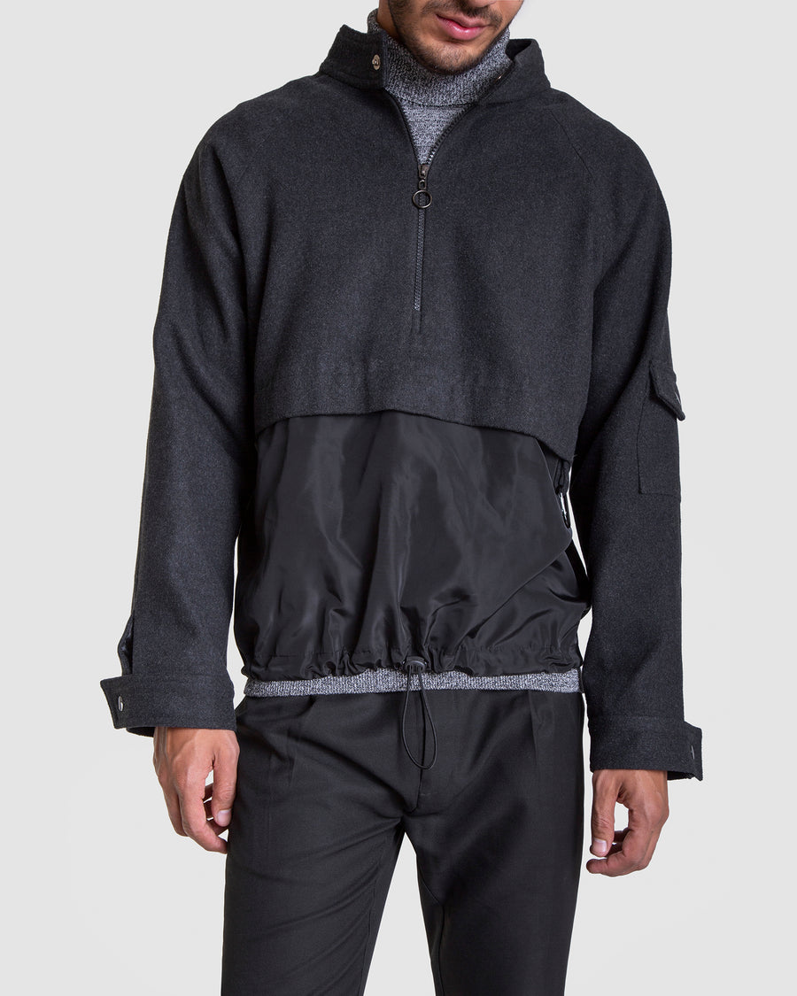Windbreaker Jumper With Hoop Zipper