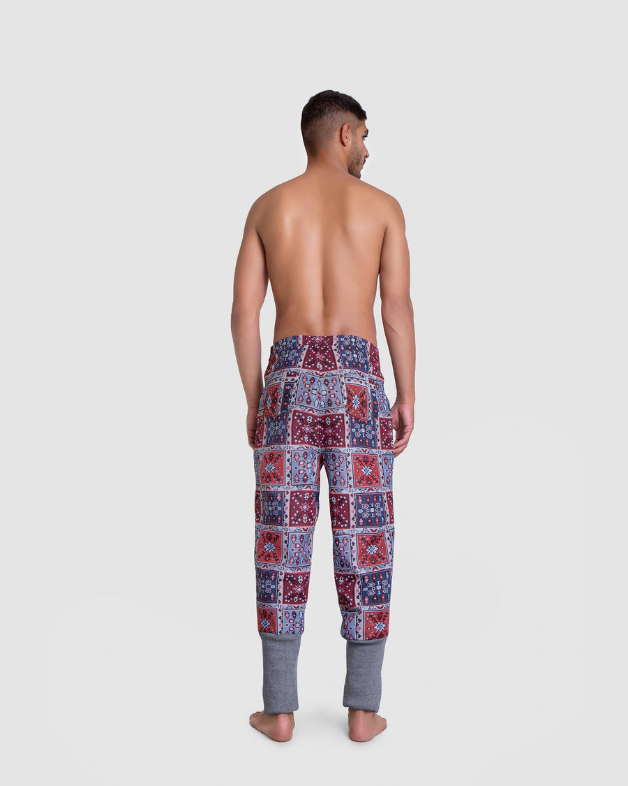 Geo Patterned Harem Pants