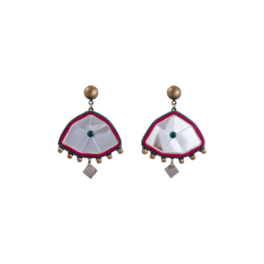 Emerald Golestan Mirror Drop Earrings