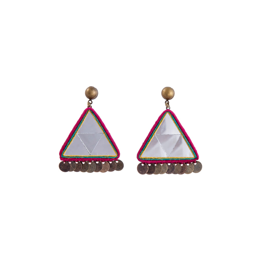 Mosaic Mirror Drop Earrings