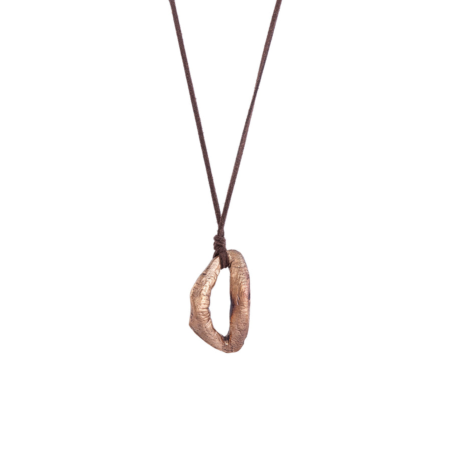 Goldilocks Lip Bronze Necklace