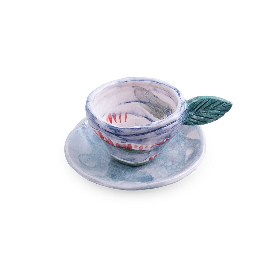 Dreamy Terrain Tea Mug And Saucer