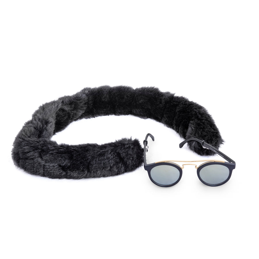 Black Fluff Sunglasses Chain