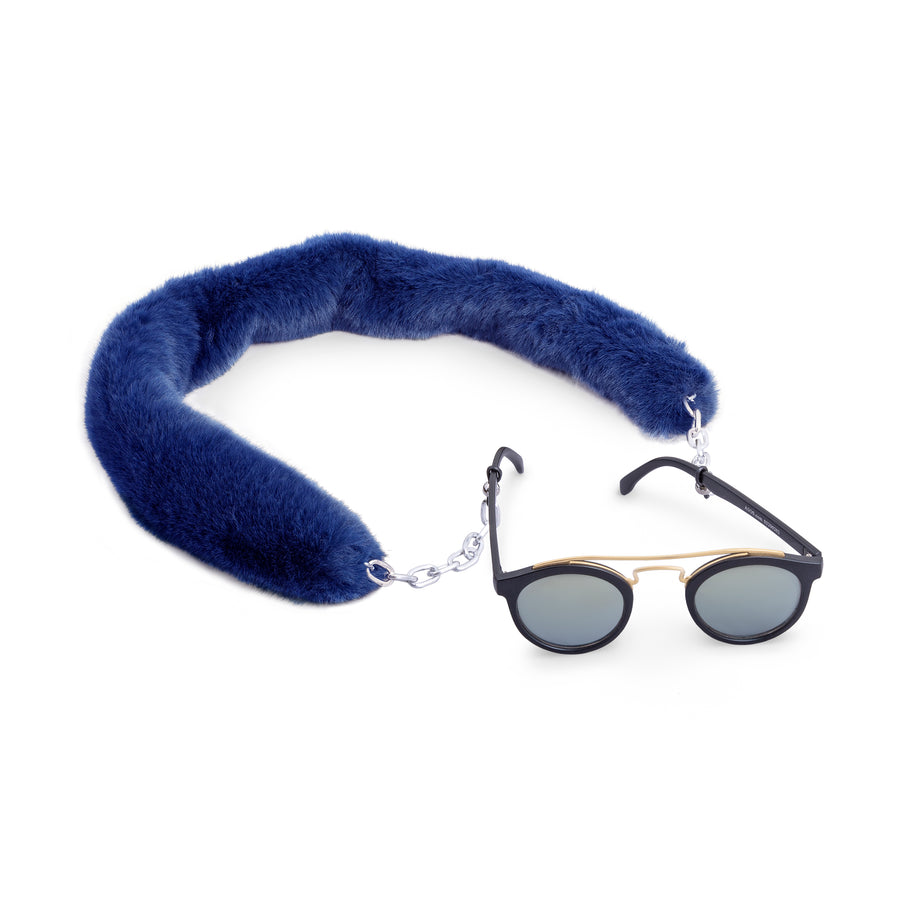 Navy Fluff Sunglass Chain