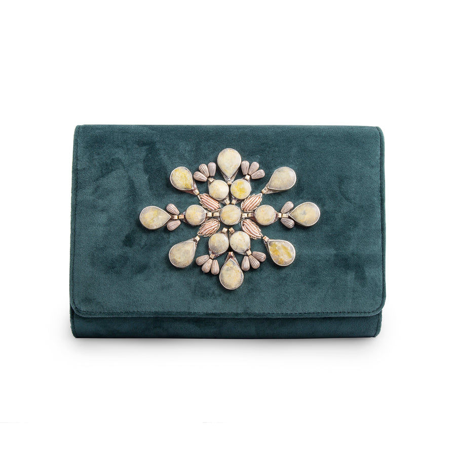 Emerald Nightingale Clutch
