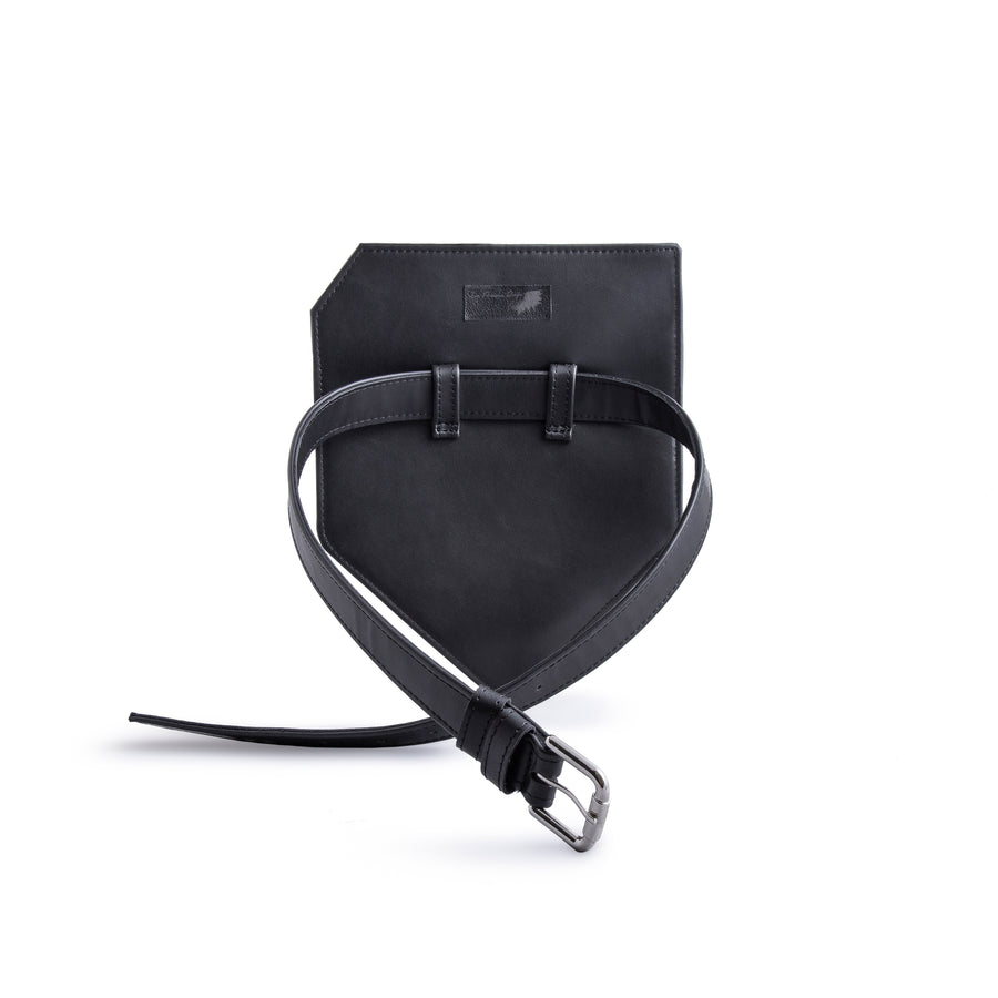 Vegan Leather Corner Belt Bag